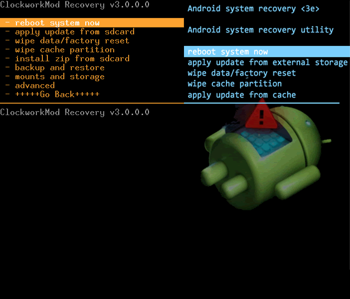 Clockworkmod recovery - Android custom recovery