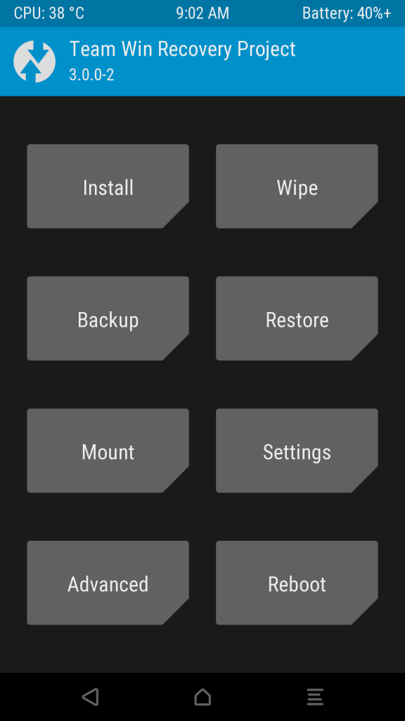 TWRP - Android custom recovery